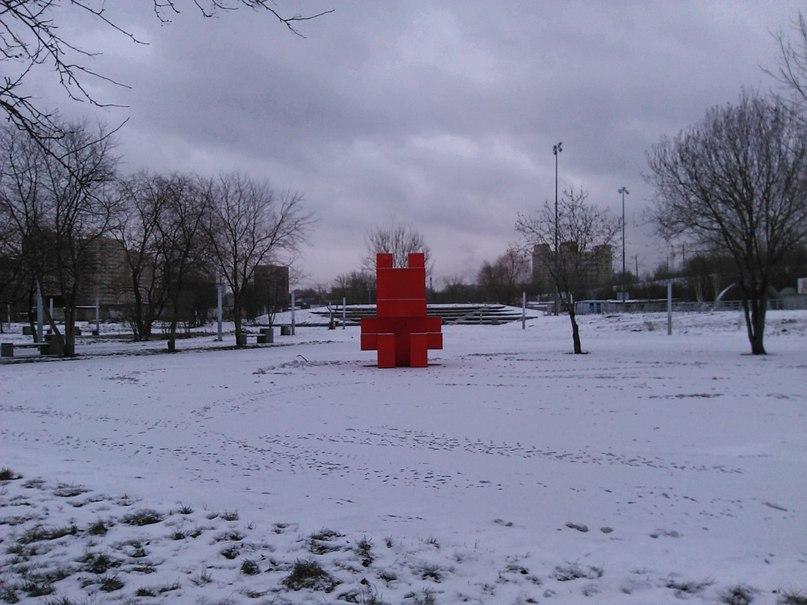 Красный человечек в экстрим-парке